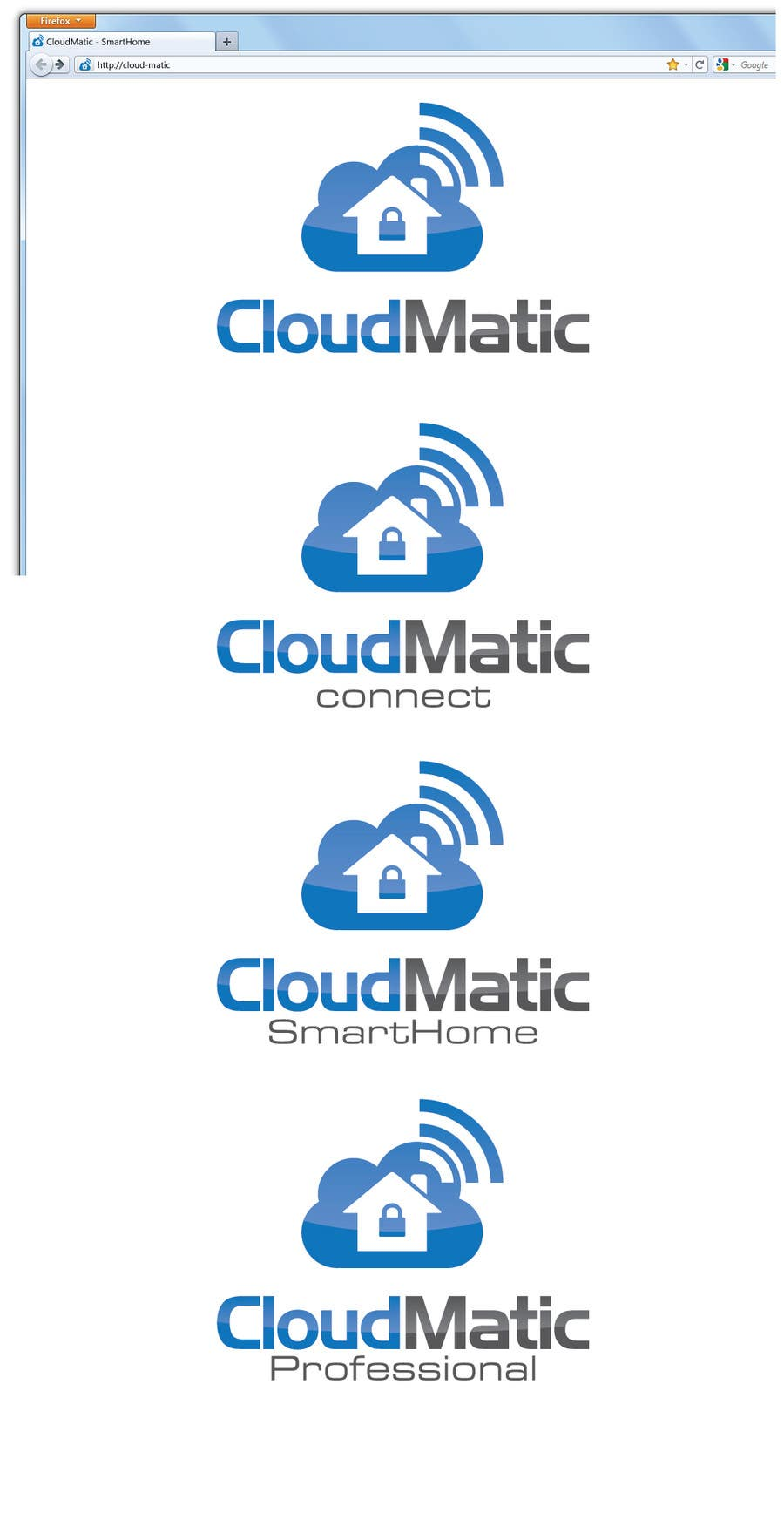 Proposition n°                                        56                                      du concours                                         Logo Design for CloudMatic