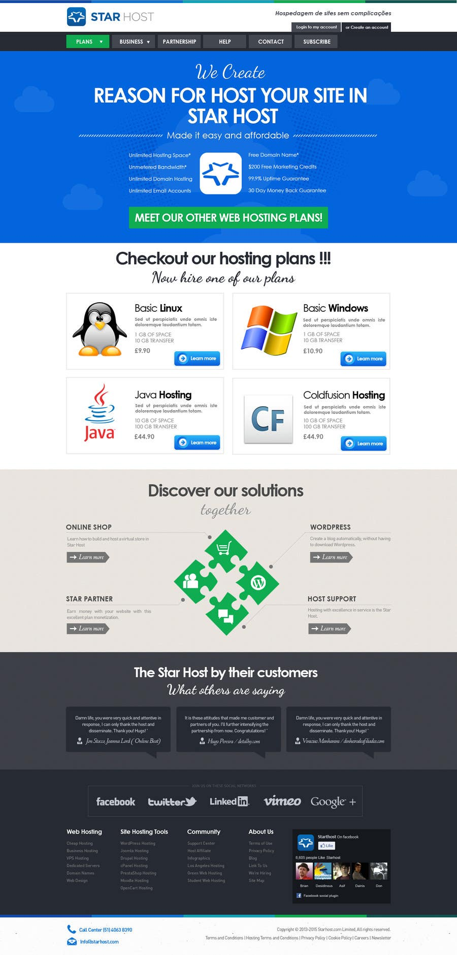 Kilpailutyö #                                        59                                      kilpailussa                                         Website Design for webhosting company