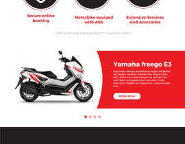 #50 untuk User Interface design (landing page design) - for a motorcycle rental company oleh SmartBlackRose