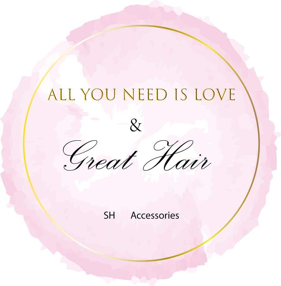 Bài tham dự cuộc thi #69 cho Please design a logo with the slogan at top 'All you need is love & great hair' with the brand 'SH Accessories' as the footer of the logo. Please take the time to view the attachment. It needs to simple, easy to read but elegant.