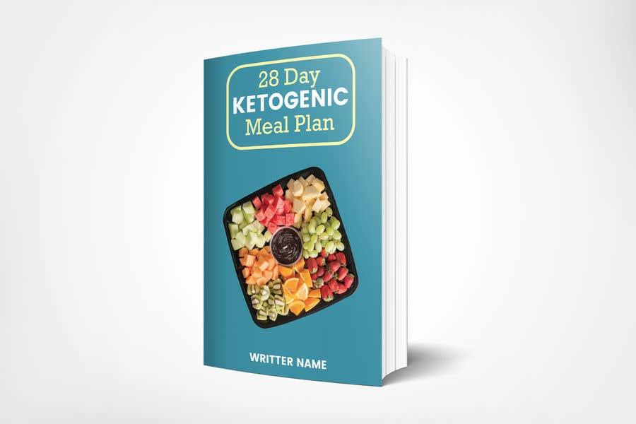 "Конкурсная заявка №22 для create an ebook cover design for my ""28 Day Ketogenic Meal Plan"" in 3D"
