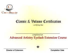 #7 for Classic certificate - eyelash extensions by Blessingendowed1
