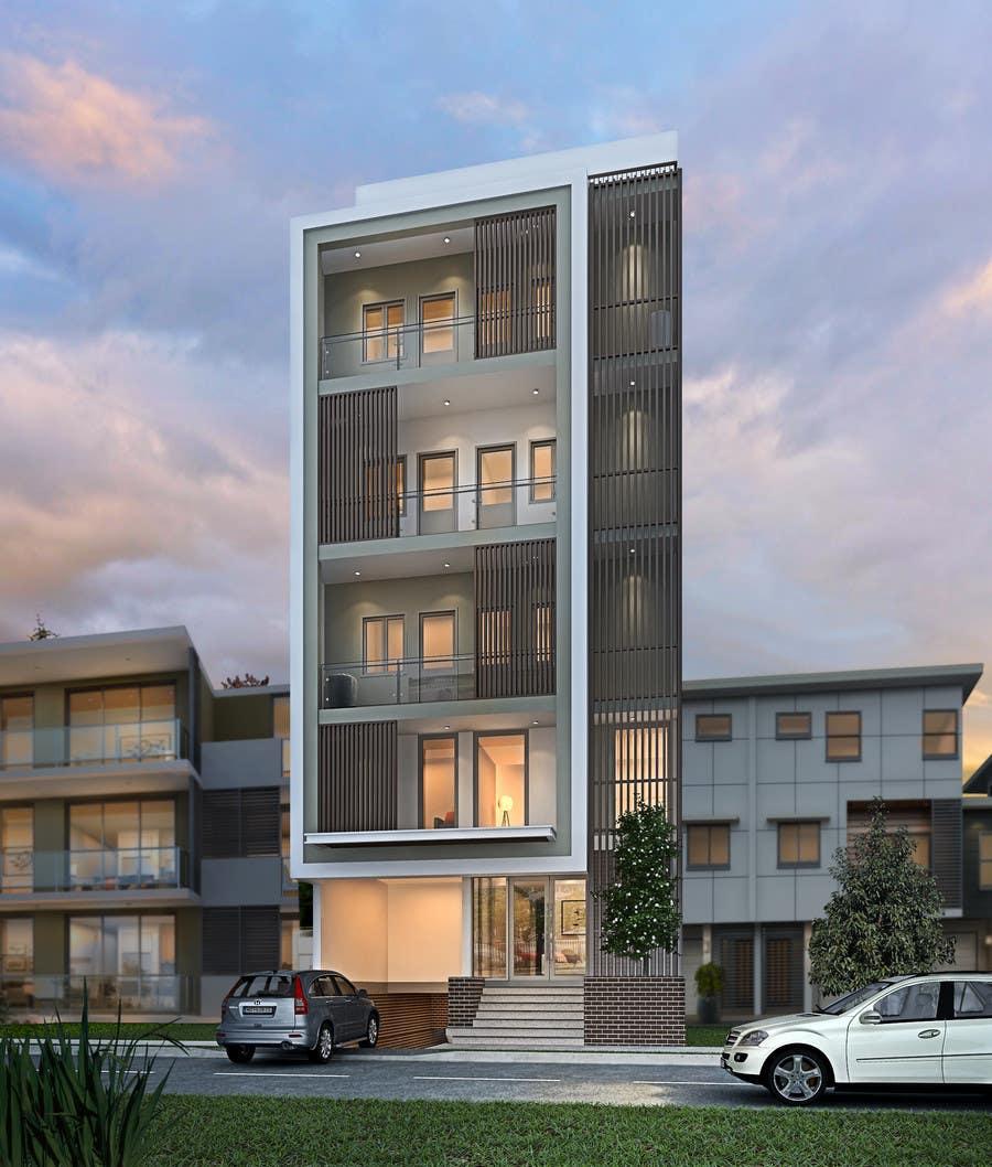 Apartment Exterior: Design Exterior Of Luxury Apartment Building, Choose Color