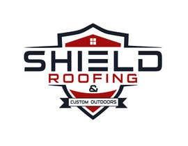 nº 128 pour Shield Roofing Logo par sojibdesigner8