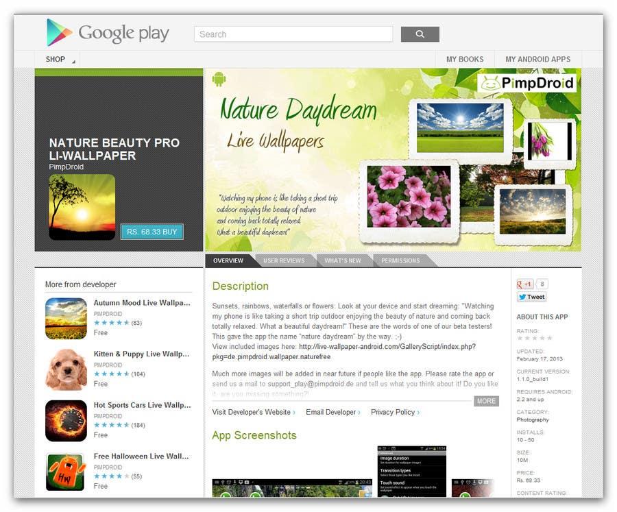 Kilpailutyö #8 kilpailussa Logo Design for Google Play Download Banner Design