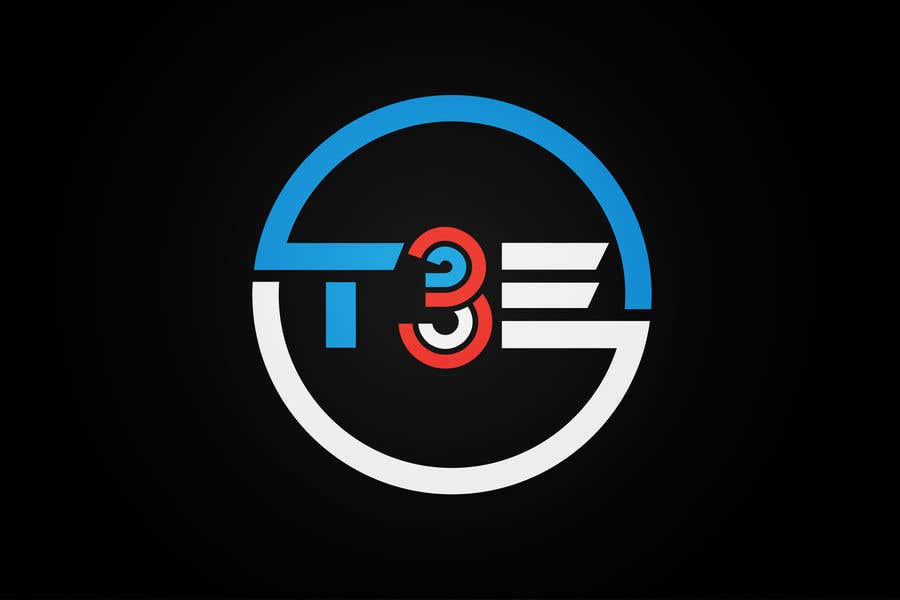 Contest Entry #34 for Logo with word: T3E using the following colors: white, red, light blue