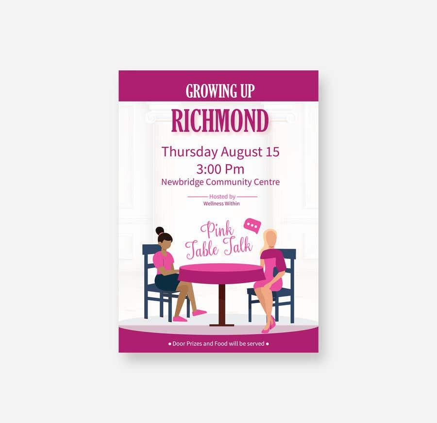 Penyertaan Peraduan #43 untuk Pink Table Talk Flyer