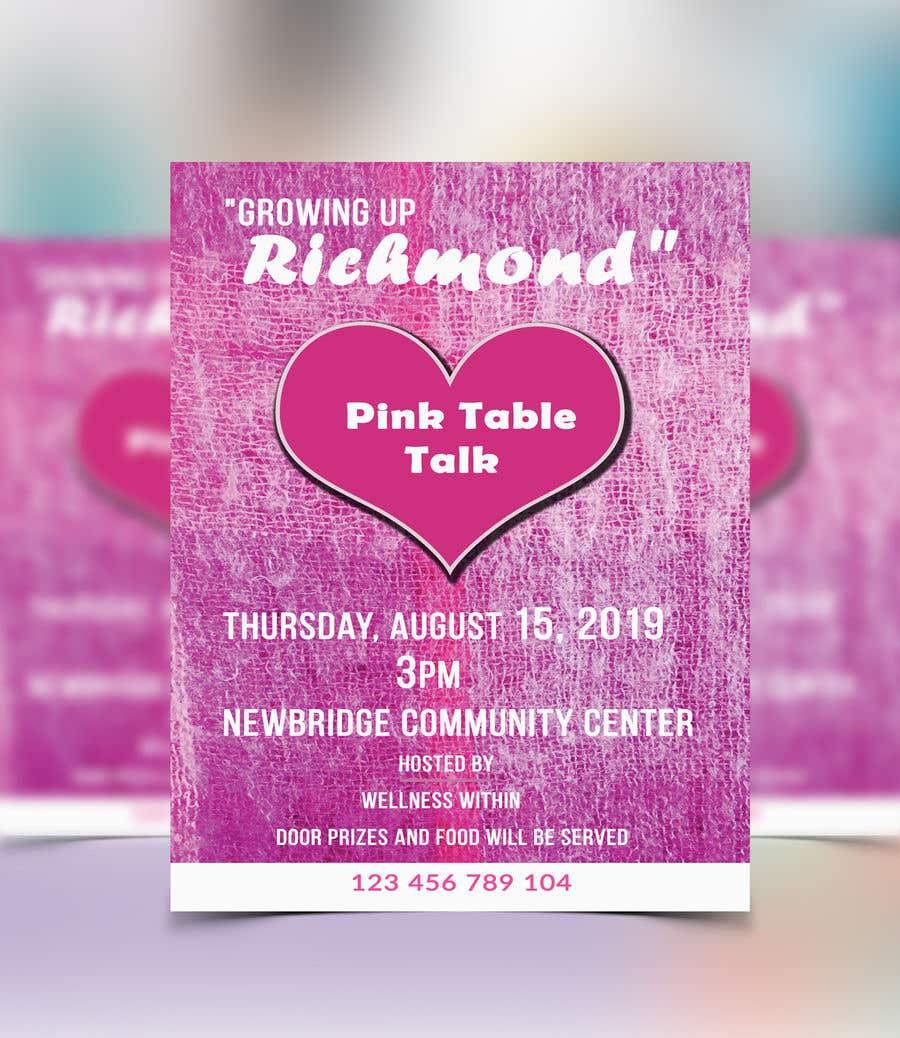 Penyertaan Peraduan #118 untuk Pink Table Talk Flyer