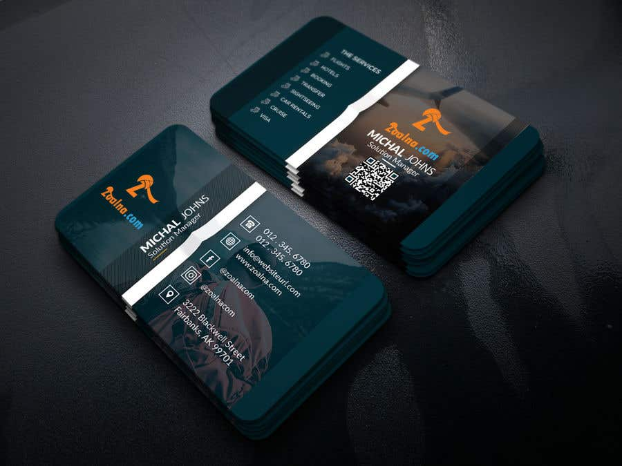 Contest Entry #28 for Business card for travel services  company