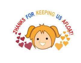 "#16 untuk Design an animated and funny image with the caption ""Thanks for keeping us afloat!"" oleh Tawsib"