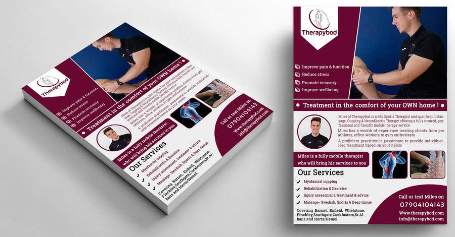 Contest Entry #76 for Flyer needed for therapy/massage business. High quality design and print clear.