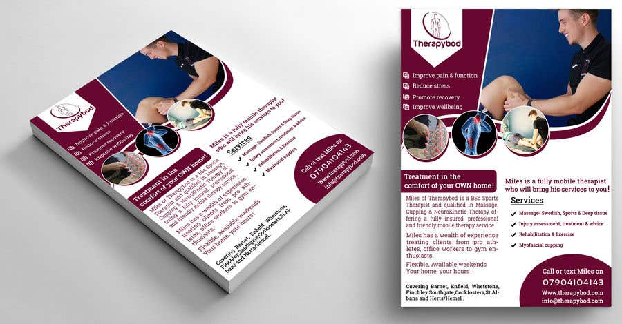 Contest Entry #92 for Flyer needed for therapy/massage business. High quality design and print clear.