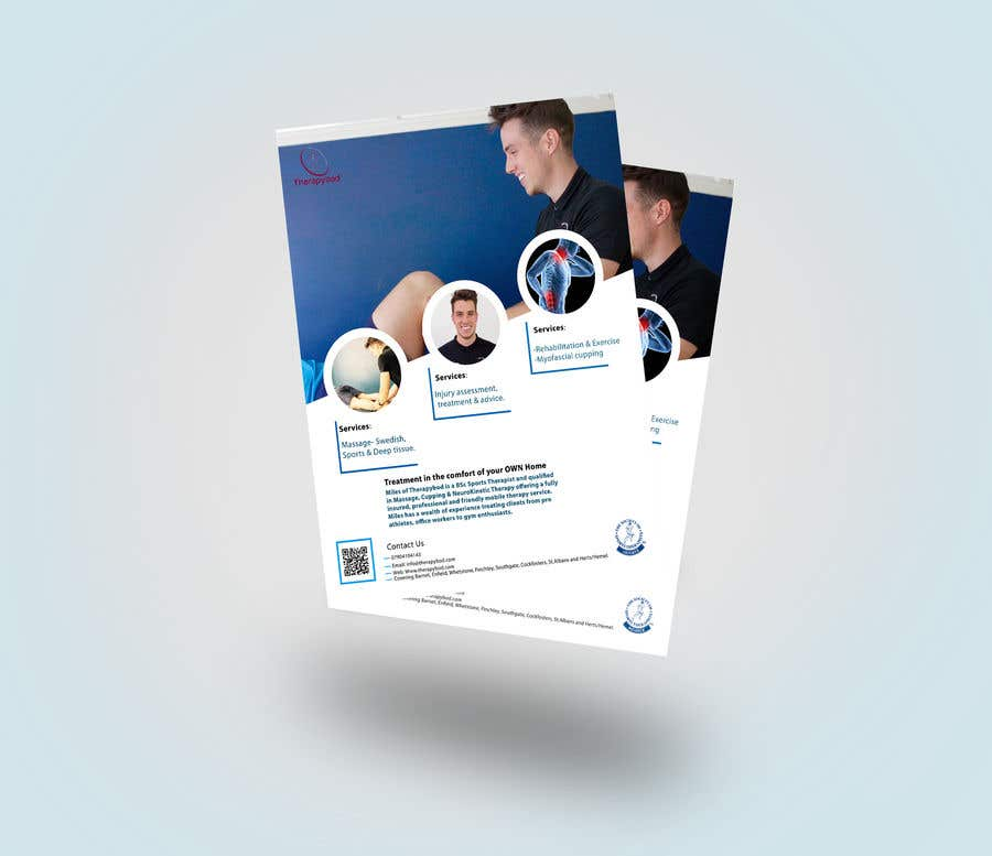 Contest Entry #52 for Flyer needed for therapy/massage business. High quality design and print clear.