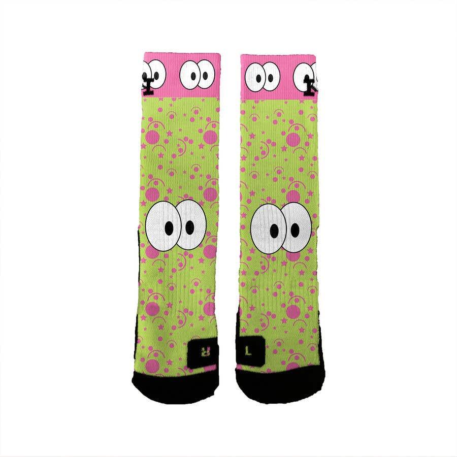 Kilpailutyö #4 kilpailussa Create a fun sock design to match a shoe