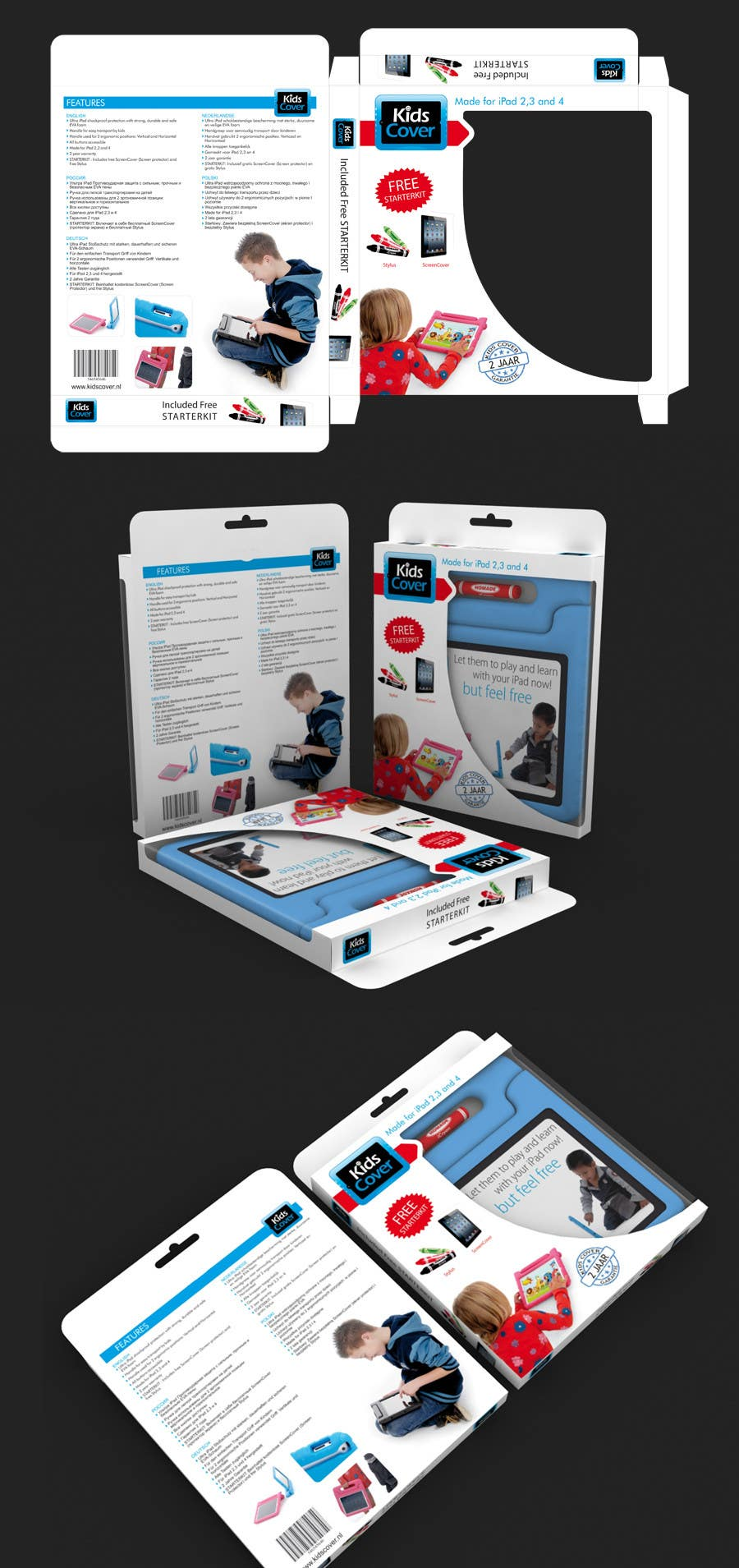 Contest Entry #                                        13                                      for                                         Packaging Design for Shockproof Kids iPad Case
