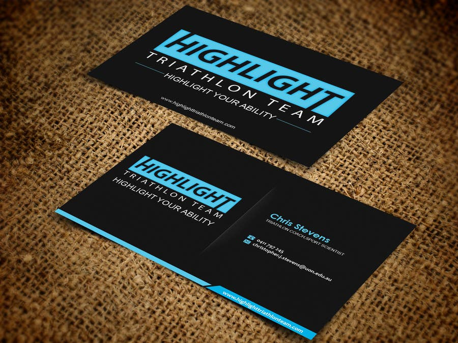 Inscrição nº 28 do Concurso para Business Card Design for Highlight Triathlon Team