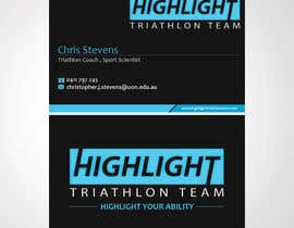 sulemankhan2010 tarafından Business Card Design for Highlight Triathlon Team için no 59