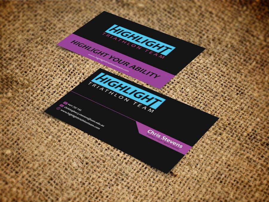 Inscrição nº 71 do Concurso para Business Card Design for Highlight Triathlon Team