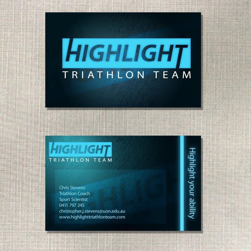 Bài tham dự cuộc thi #74 cho Business Card Design for Highlight Triathlon Team