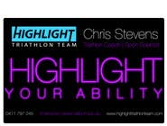 Graphic Design Konkurrenceindlæg #11 for Business Card Design for Highlight Triathlon Team
