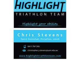 #52 cho Business Card Design for Highlight Triathlon Team bởi AnaKostovic27