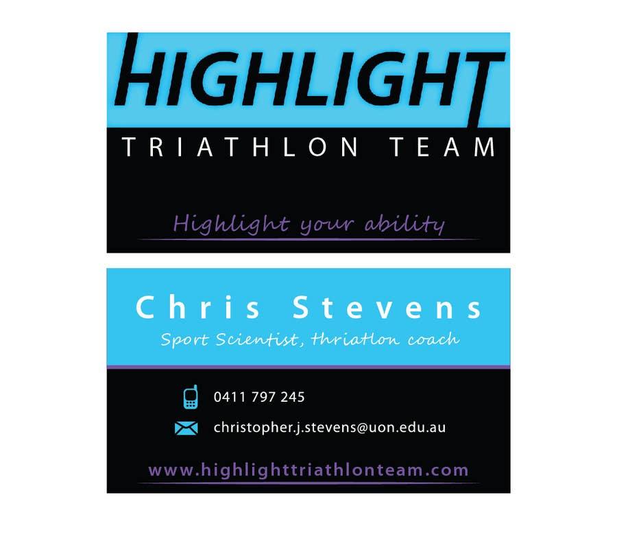 Konkurrenceindlæg #                                        53                                      for                                         Business Card Design for Highlight Triathlon Team