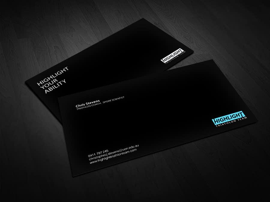 Konkurrenceindlæg #                                        69                                      for                                         Business Card Design for Highlight Triathlon Team