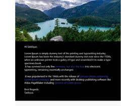 #83 для Make an HTML email template + signature от siddique1092