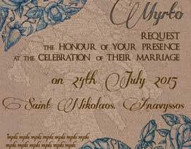 #96 для Design a Wedding Invitation от DragonFly0626