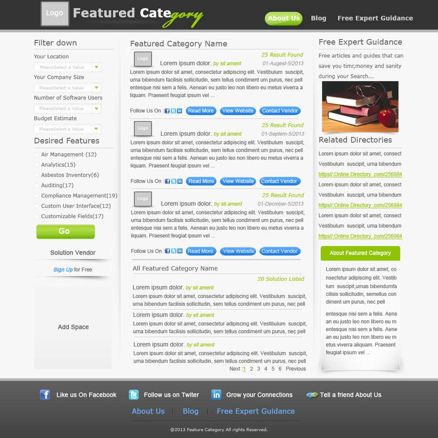 Contest Entry #                                        5                                      for                                         Design one Search Results homepage
