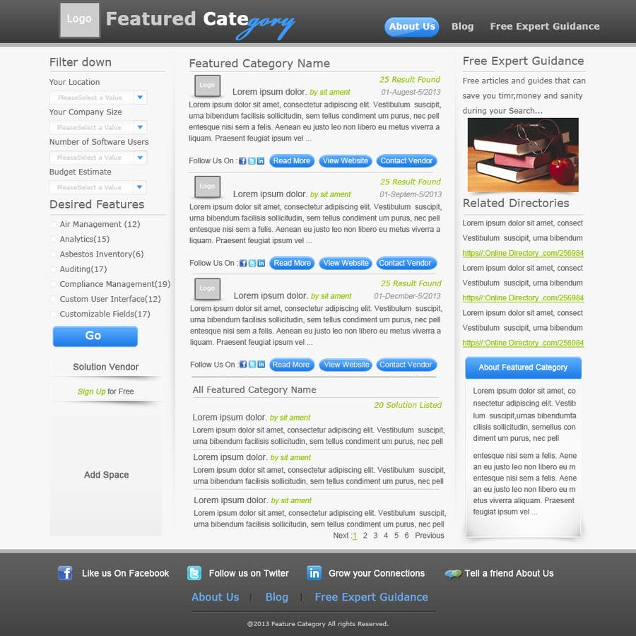 Contest Entry #                                        10                                      for                                         Design one Search Results homepage
