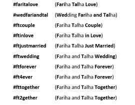 #19 cho Wedding Hashtag bởi fmaccari
