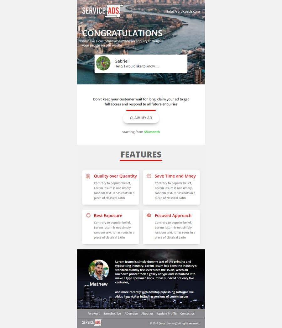Konkurrenceindlæg #21 for Design us Email Templates