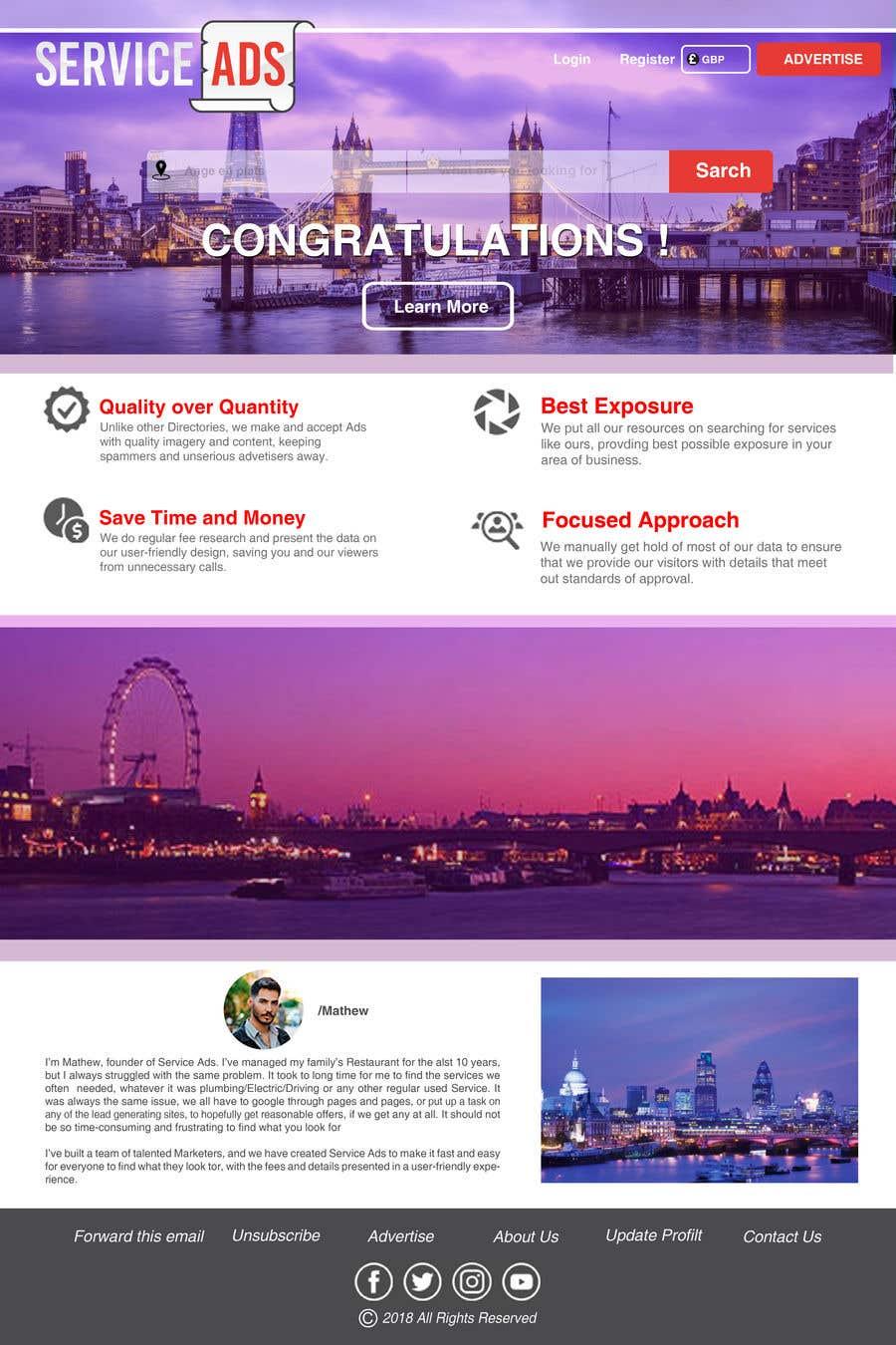 Konkurrenceindlæg #8 for Design us Email Templates