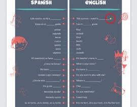 Nro 30 kilpailuun Design 1 page digital poster - Top Spanish Phrases for kids käyttäjältä dnamalraj