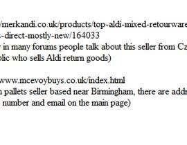 Nro 6 kilpailuun Sourcing suppliers (customer return pallets) käyttäjältä fmaccari