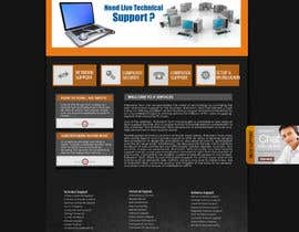 #15 para Wordpress Theme Design for IT Tech Support Help $650 to $1000 por fransievn