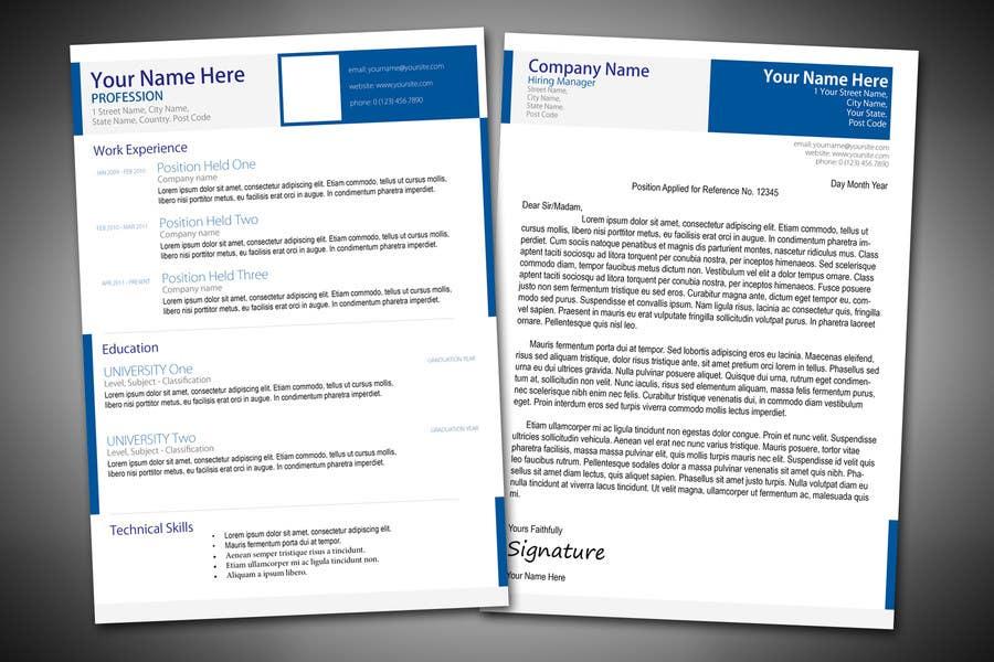 Penyertaan Peraduan #2 untuk Graphic Design for CV and cover letter