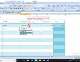 #12 for Build an invoice form that I can reuse in excel af RSRawat1