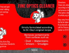 #15 для Design a template label for optical cleaning fluid от Win112370