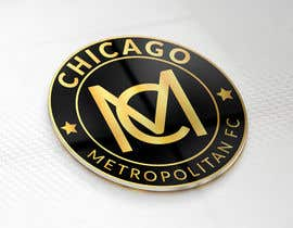 #11 для I need a logo with the wording Chicago Metropolitan FC Since 2020 that mix the two logos on file and keep the c with ball. Main colors should be Royal blue, Yellow and Dark gray. от oumomenmr