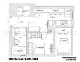 #87 untuk Please take a look on attached floor plan. We are looking for a way to move from 1 to 2 room flat oleh arqfernandezr