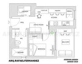 #88 untuk Please take a look on attached floor plan. We are looking for a way to move from 1 to 2 room flat oleh arqfernandezr