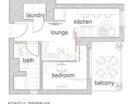 #94 untuk Please take a look on attached floor plan. We are looking for a way to move from 1 to 2 room flat oleh tosonguldemir