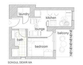 #98 untuk Please take a look on attached floor plan. We are looking for a way to move from 1 to 2 room flat oleh tosonguldemir