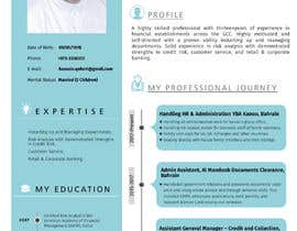 #21 for Need to convert the attach word document CV for Mr. Alqaheri to an informative Info-graphic CV. See also attached PDF example of personal profile that I like. by irfananis07