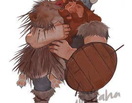 #77 cho Creative art of someone wearing battle armor hugging a porcupine. Artwork Illustration bởi nugrahanugraha
