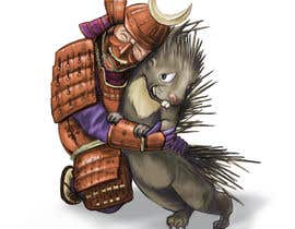 #110 cho Creative art of someone wearing battle armor hugging a porcupine. Artwork Illustration bởi anantamade