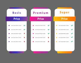 #6 for Design pricing table by MalakMedhat96