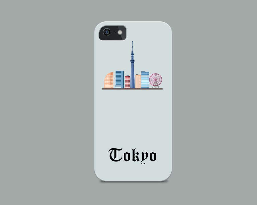 Konkurrenceindlæg #5 for Design a phone case with a minimal skyline of a famous city.
